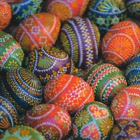 Lunch Servietten Traditional easter eggs