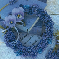 Lunch Servietten Blue wreath