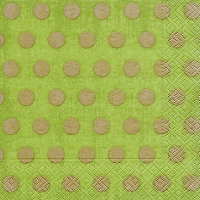 Lunch Servietten Classic dots green