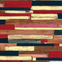 Servietten 33x33 cm - Colourful planks