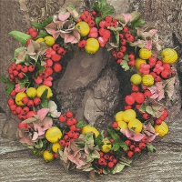 Servietten 33x33 cm - Autumn wreath