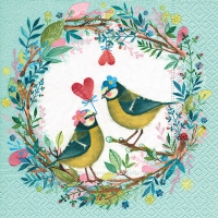 Servietten 33x33 cm - Bird wedding