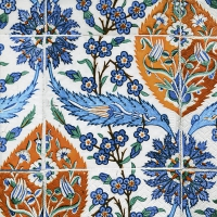 Lunch Servietten Asian tiles