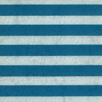 Lunch Servietten Linen stripes blue