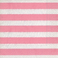 Servietten 33x33 cm - Linen stripes pink