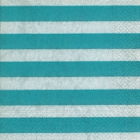 Lunch Servietten Linen stripes aqua
