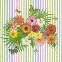 Servietten 33x33 cm - Tropical bouquet