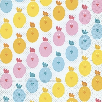 Servietten 33x33 cm - Chicks pattern