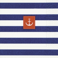 Servietten 33x33 cm - Sailor stripes