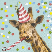 Servietten 33x33 cm - Party giraffe