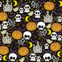 Servietten 33x33 cm - Halloween-Mix