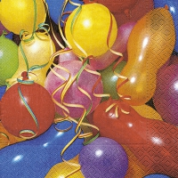 Servietten 33x33 cm - Colourful balloons