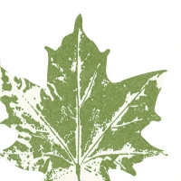 Gestanzte Servietten - Maple leaf green
