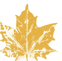 Gestanzte Servietten - Maple leaf yellow