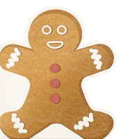 Die-cut napkins - Gingerbread man