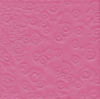 Servietten 33x33 cm - Moments Uni pink