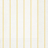 Dinner Servietten Home white/yellow