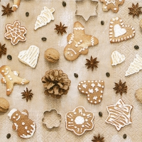 Servietten 25x25 cm - Christmas cookies