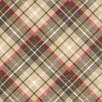 Servietten 25x25 cm - Tartan brown