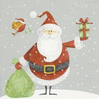 Servietten 25x25 cm - Santa with Oskar