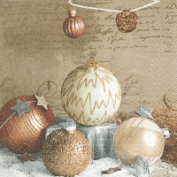 Servietten 25x25 cm - Bauble arragement