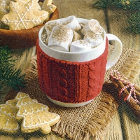 Servietten 25x25 cm - Hot chocolate