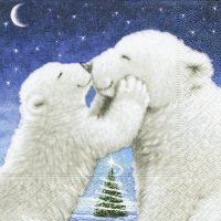 Lunch Servietten Polar bear kiss
