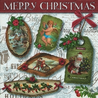 Lunch Servietten Christmas labels
