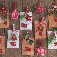 Servietten 33x33 cm - Advent calendar