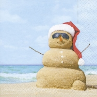 Lunch Servietten Beach snowman