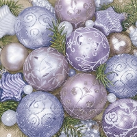 Lunch Servietten Purple baubles