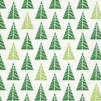 Servietten 33x33 cm - Pointed trees green