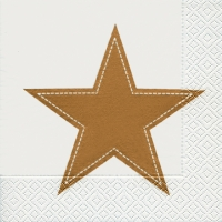 Lunch Servietten Simply star white/gold