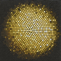 Servietten 33x33 cm - Spangle circle