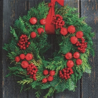 Lunch Servietten Door wreath