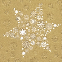 Servietten 33x33 cm - Moments My Xmas star gold