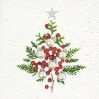 Servietten 33x33 cm - Moments Berry tree