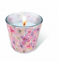 glass candle - Small blossoms