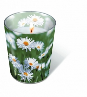 glass candle - Full of daisies