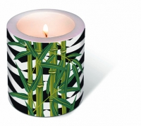 Dekorkerze - Candle Bamboo leaves