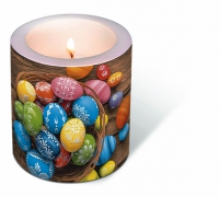 Dekorkerze Candle Dyed eggs