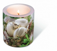 Dekorkerze Candle Bird nest