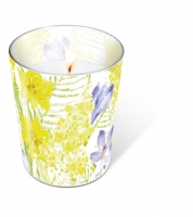 Glaskerze - Candle Glass Spring mantra