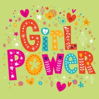Servietten 33x33 cm - Girl Power