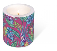 Dekorkerze - Decorated Candle Chameleon