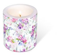 Dekorkerze - Decorated Candle Sweet Pinks