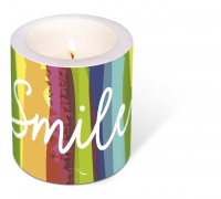 decorative candle - Smile