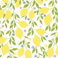 Servietten 33x33 cm - Moments Summer lemons