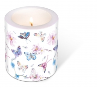 decorative candle - Butterflies