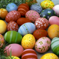 Servietten 33x33 cm - Colourful eggs